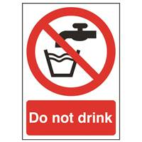 Picture of Do Not Drink Sign