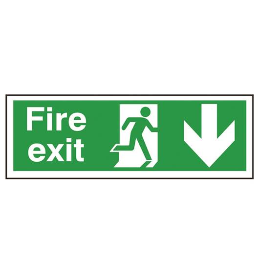 Picture of Fire Exit Down Arrow Sign
