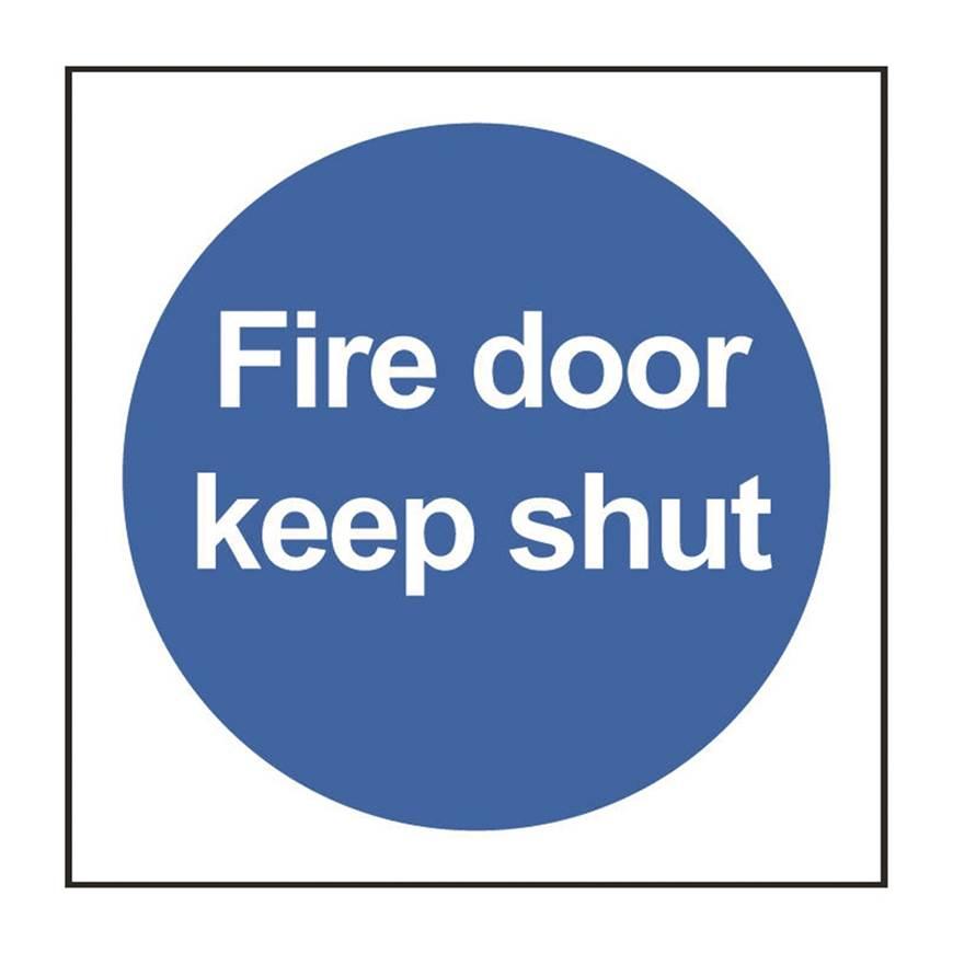 Picture of Fire Door Keep Shut Sign