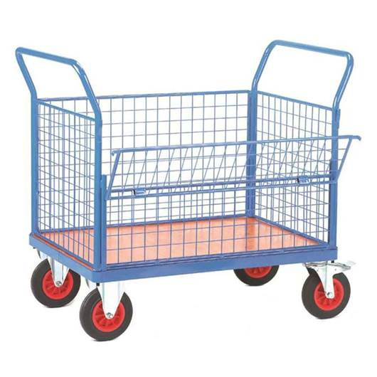 Picture of Fort Plywood Platform Trucks with Drop Mesh Side