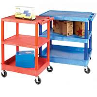 Picture of Service Trolleys with Coloured Legs & Shelves