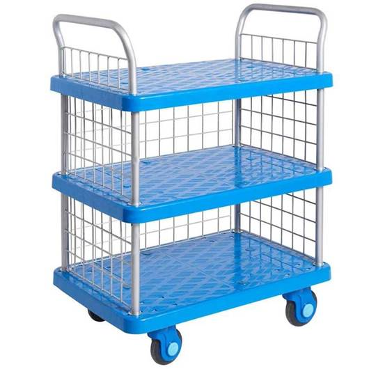 Picture of Proplaz Super Silent Three Tier Trolley with Mesh Side & Ends