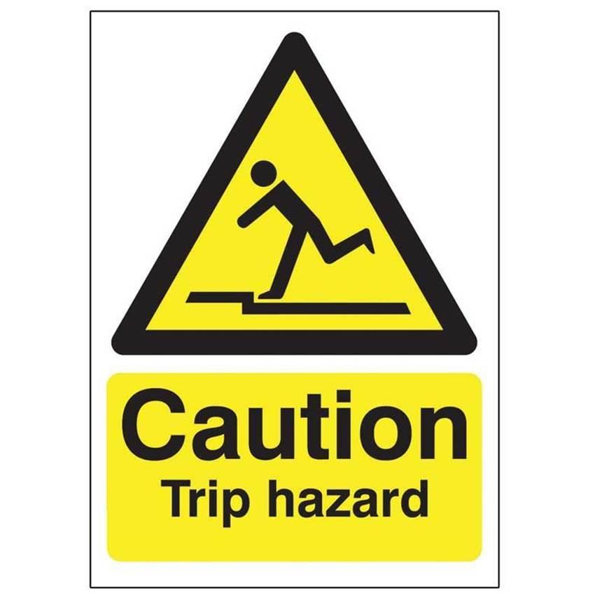 Picture of Caution Trip Hazard Sign