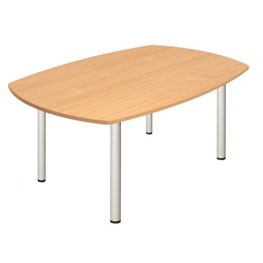 Picture of Fraction Boardroom Table with Silver Metal Legs