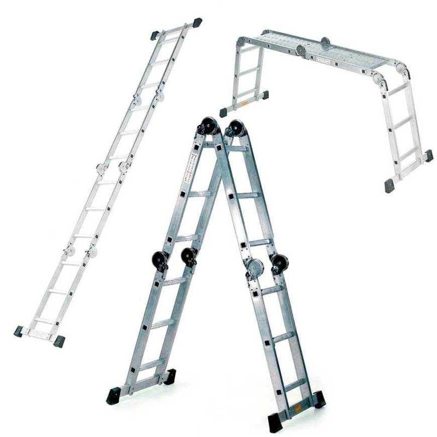 Picture of Aluminium Combination Ladder with Working Platform