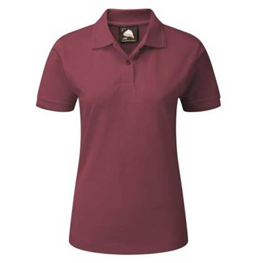 Picture of Womens Burgundy Polo Shirt