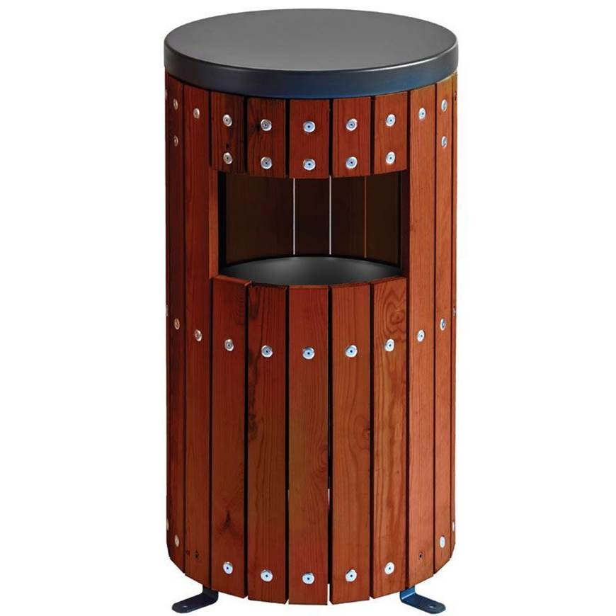 Picture of Wood Effect Bin - Circle Single