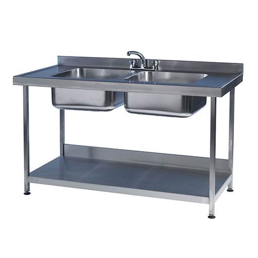 Picture of Stainless Steel Preparation Workbenches with Bowl Sinks